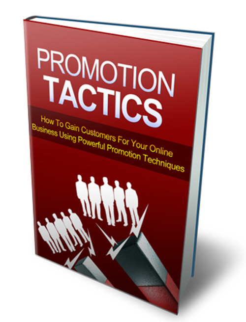 Product picture Promotion Tactics (mrr)