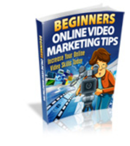 Product picture Beginners Online Video Marketing Tips