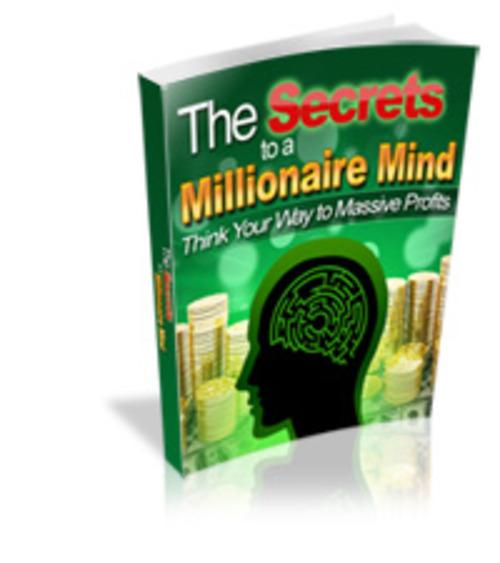 Product picture Secrets to a Millionaire Mind mrr