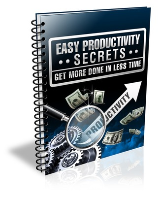 Product picture Easy Productivity Secrets